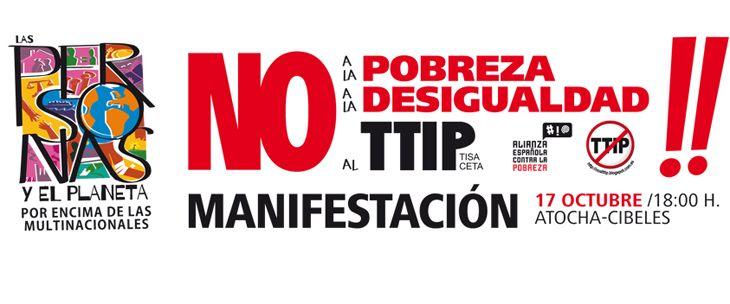 No a la pobreza, no a la desigualdad, no al TTIP
