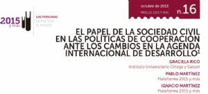 El papel de la sociedad civil en las políticas de cooperación ante los cambios en la agenda internacional de desarrollo