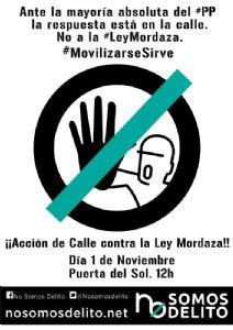 Nos unimos a los colectivos ciudadanos que denuncian la Ley Mordaza