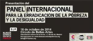 Presentamos el Panel Internacional contra la Pobreza y la Desigualdad y la Declaración de Madrid