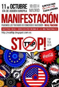 La Plataforma 2015 y más se suma a las movilizaciones contra el TTIP