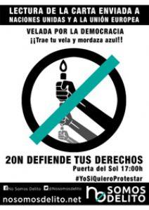 20N: Defiende tus derechos, defiende tu justicia