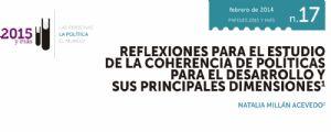 Reflexiones para el estudio de la coherencia de políticas para el desarrollo y sus principales dimensiones