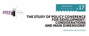 The Study of Policy Coherence for Development: Considerations and main dimensions