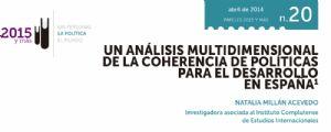 Un análisis multidimensional de la coherencia de políticas para el desarrollo en España