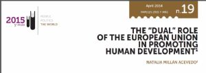 The Dual Role of the European Union in Promoting Human Development