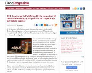 El XI Anuario de la Plataforma 2015 y más critica el desmantelamiento de las políticas de cooperación del Estado español