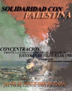 Concentración en Solidaridad con Palestina