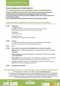 Jornada en Valencia: Coherencia de Políticas