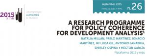 A Research Programme form Policy Coherence for Development Analysis
