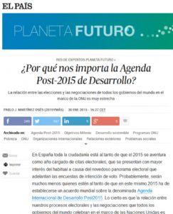 ¿Por qué nos importa la Agenda Post-2015 de Desarrollo?