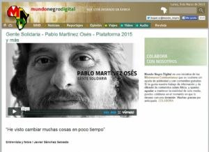 """Pablo Martínez Osés  (Plataforma 2015 y más): """"He visto cambiar muchas cosas en poco tiempo"""""""