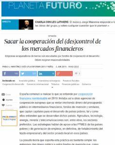 Sacar la cooperación del (des)control de los mercados financieros
